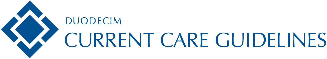 Duodecim Current Care Guidelines -logo